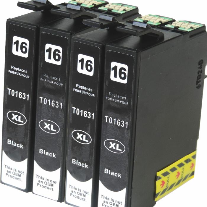 Kompatibel 4x Epson 16XL, T1631, C13T16314010,...