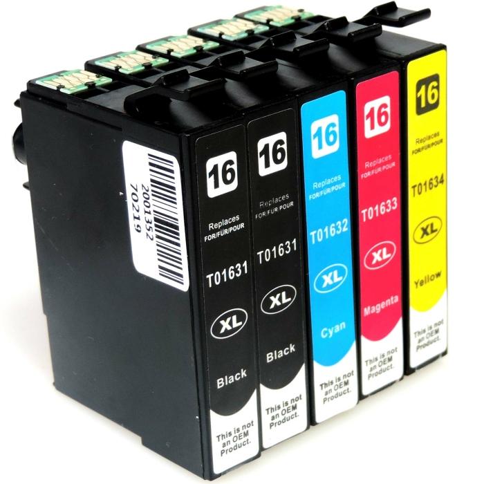 Kompatibel 5er Set Epson 16XL, Füller, T1636,...