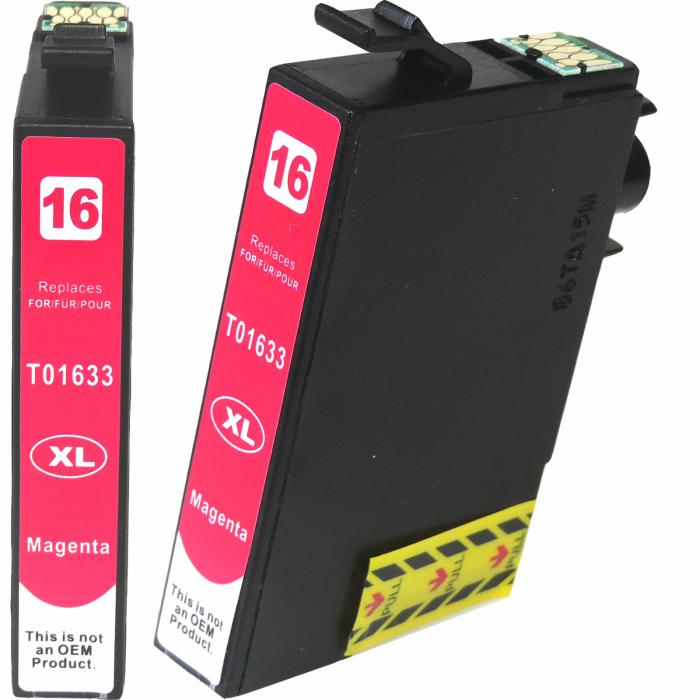 Kompatibel 5er Set Epson 16XL, Füller, T1636, C13T16364010 Druckerpatronen Tinte 2x Schwarz und je 1x Cyan, Magenta und Gelb von D&C