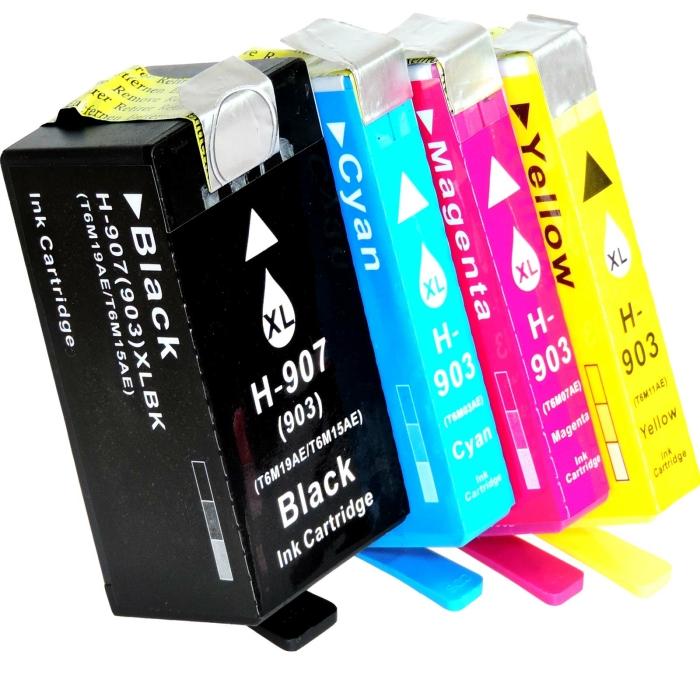 Kompatibel 4er Set HP 907XXL, 903XL Druckerpatronen Tinte...