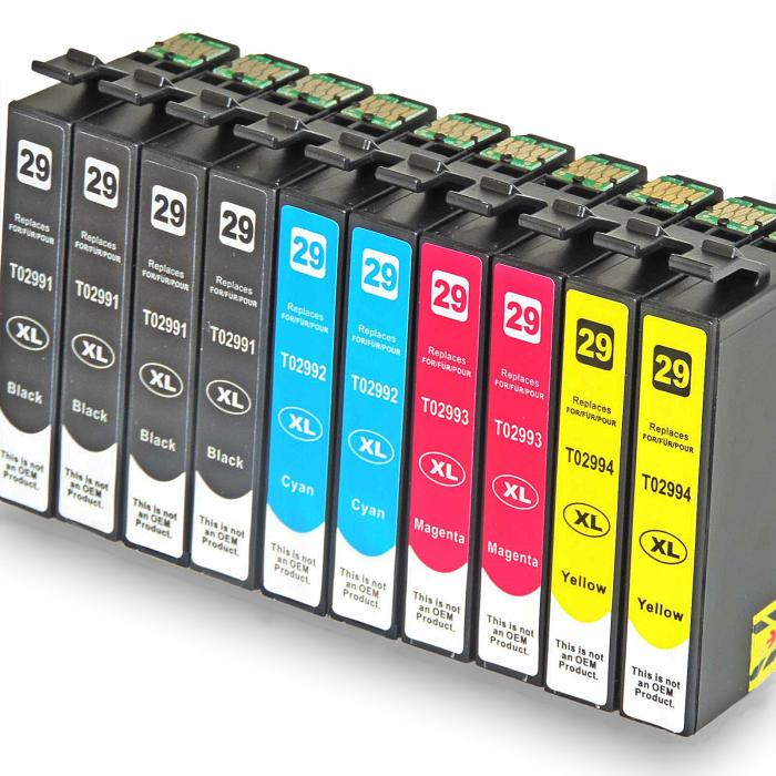 Kompatibel 10er Sparset Patronen Epson 29XL alle Farben...