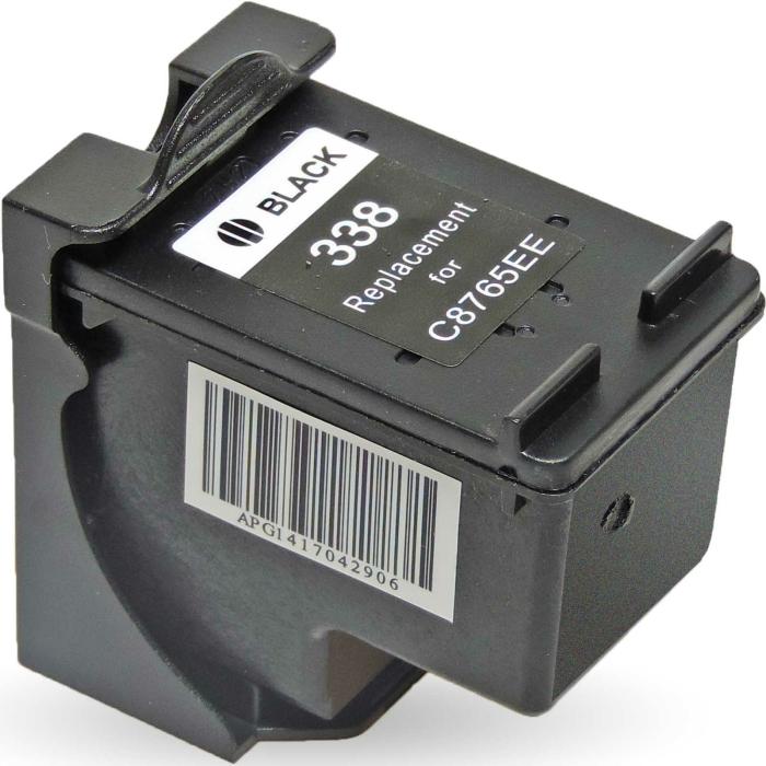 Wiederbefüllt HP 338, C8765EE BK Schwarz Black...