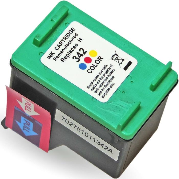 Wiederbefüllt HP 342, C9361EE C Color Cyan / Magenta...
