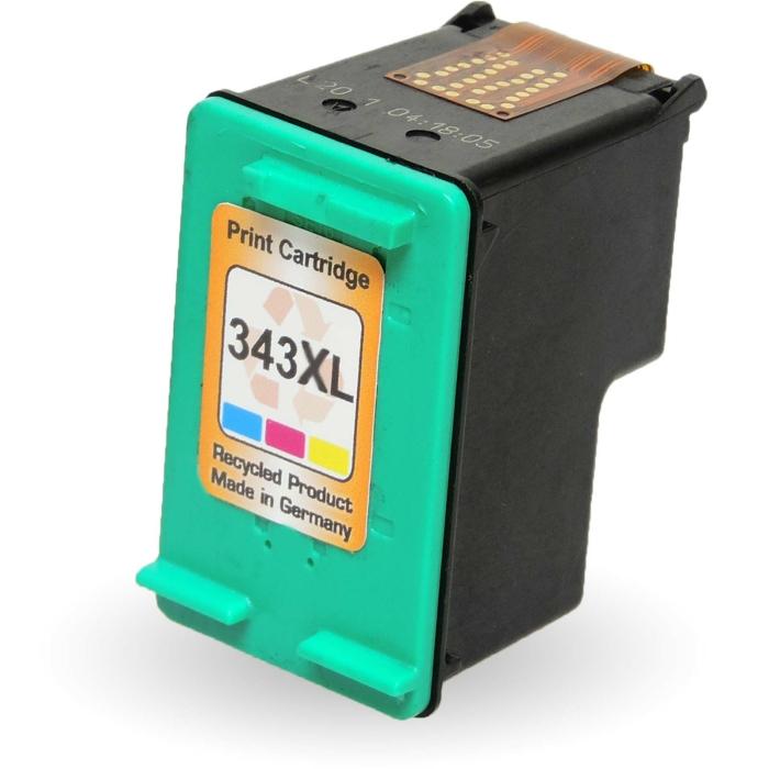 Wiederbefüllt HP 343, C8766EE C Color Cyan / Magenta...