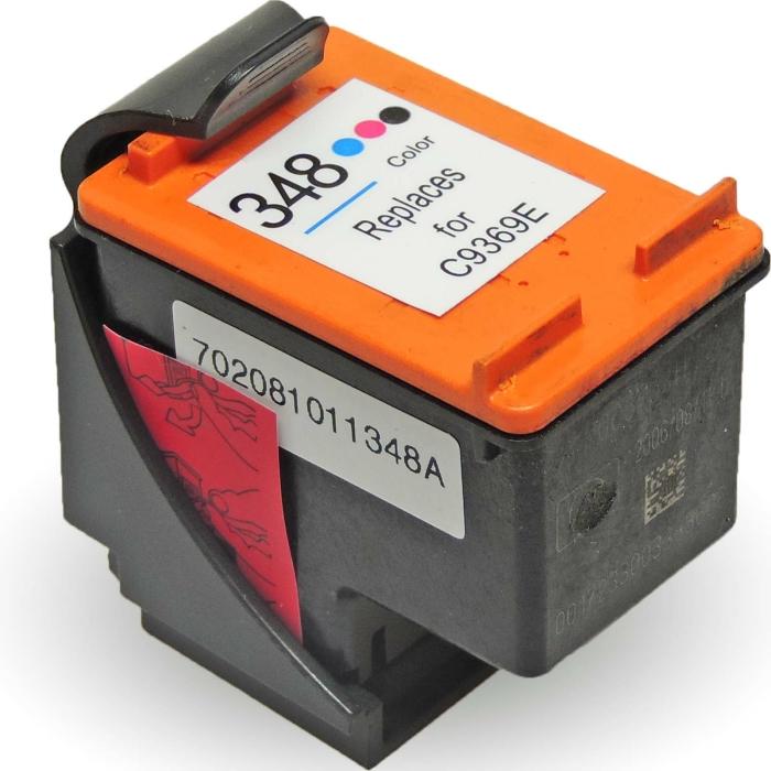 Wiederbefüllt HP 348, C9369EE Photo Schwarz / Light-Cyan / Light-Magenta Druckerpatrone für 135 Seiten von Gigao