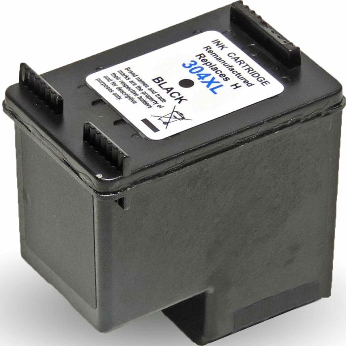 Wiederbefüllt HP 304XL, N9K08AE BK Schwarz Black Druckerpatrone für 300 Seiten von Gigao