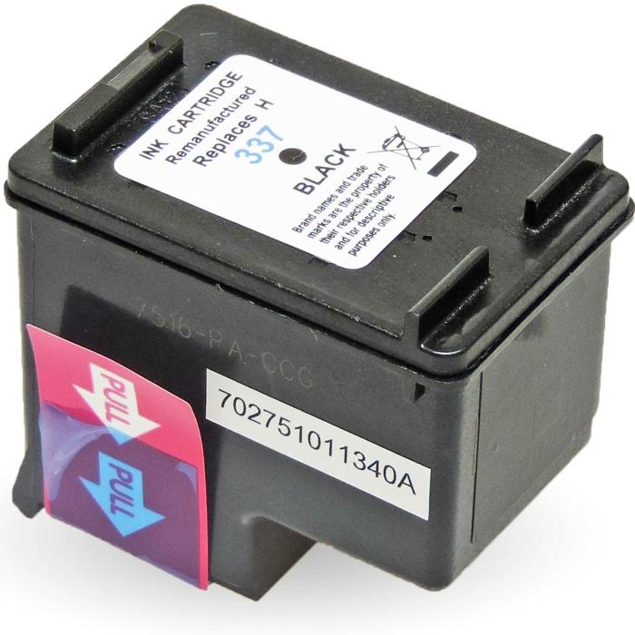 Refill 2er Set HP 337 C9362EE + 343 C8766EE Druckerpatronen wiederbefüllt Schwarz + alle Farben von Gigao
