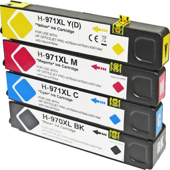 Kompatibel 4er Set HP 970XL, 971XL Druckerpatronen Tinte...