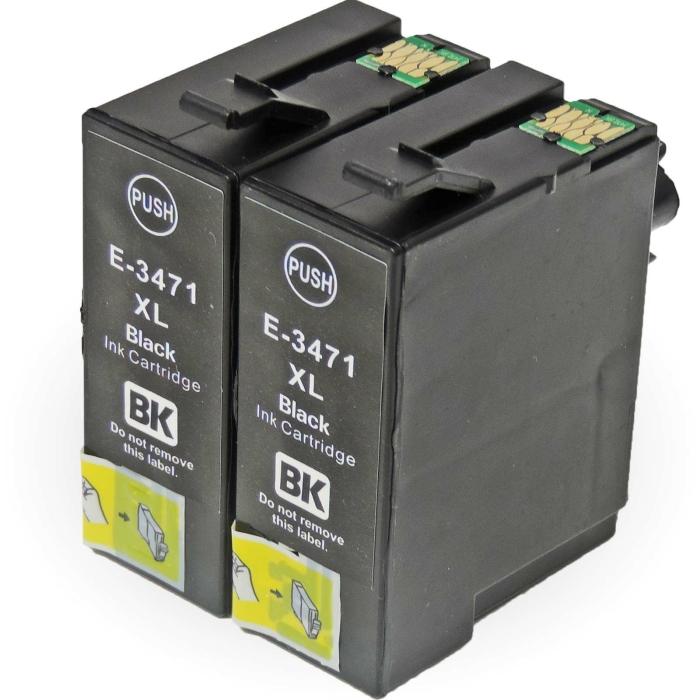 Kompatibel 2x Epson Golfball, T3471, 34XL, C13T34714010...