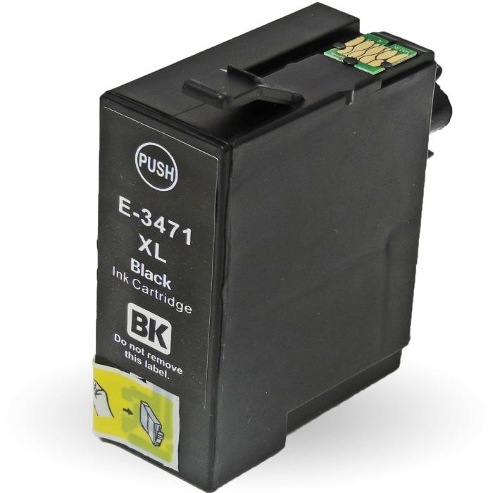 Kompatibel 2x Epson Golfball, T3471, 34XL, C13T34714010 BK Black Multipack schwarze Druckerpatronen je 1.100 Seiten von D&C