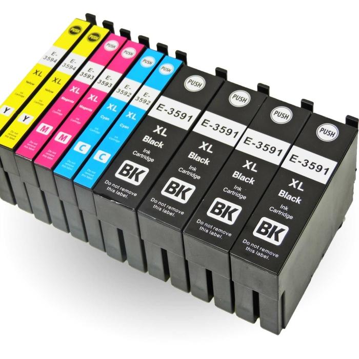 Kompatibel 10er Set Epson Vorhängeschloss, T3596,...