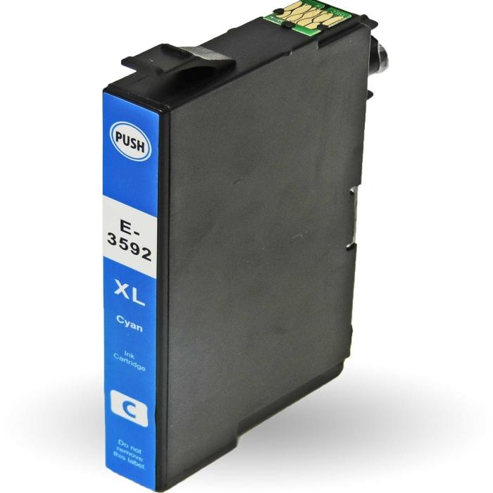 Kompatibel 10er Set Epson Vorhängeschloss, T3596, 35XL, C13T35964010 Druckerpatronen Tinte alle Farben von D&C