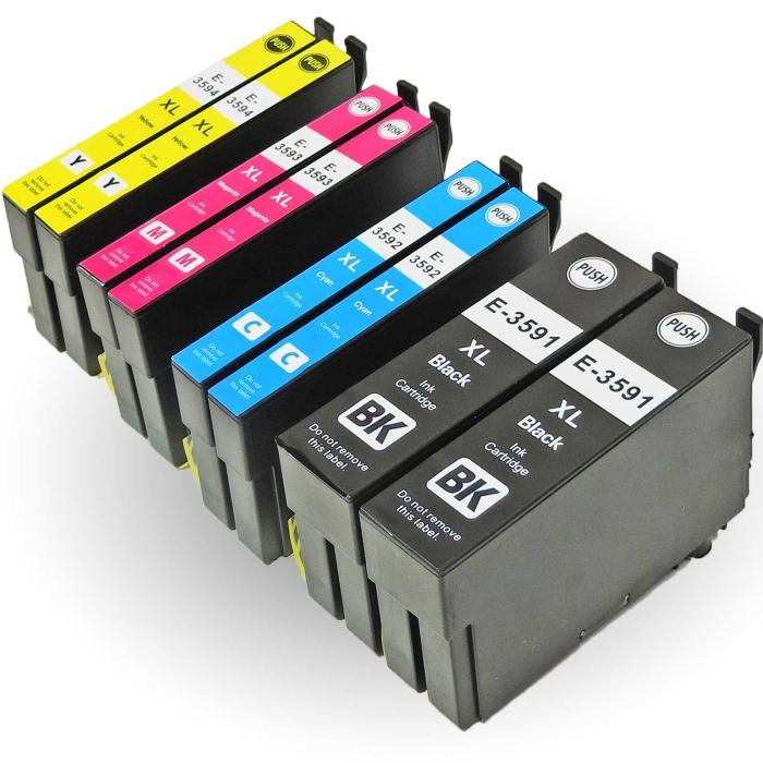 Kompatibel 8er Set Epson Vorhängeschloss, T3596,...