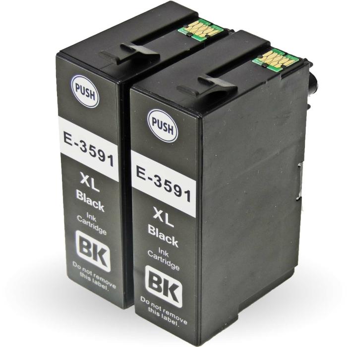 Kompatibel 2x Epson Vorhängeschloss, T3591, 35XL,...