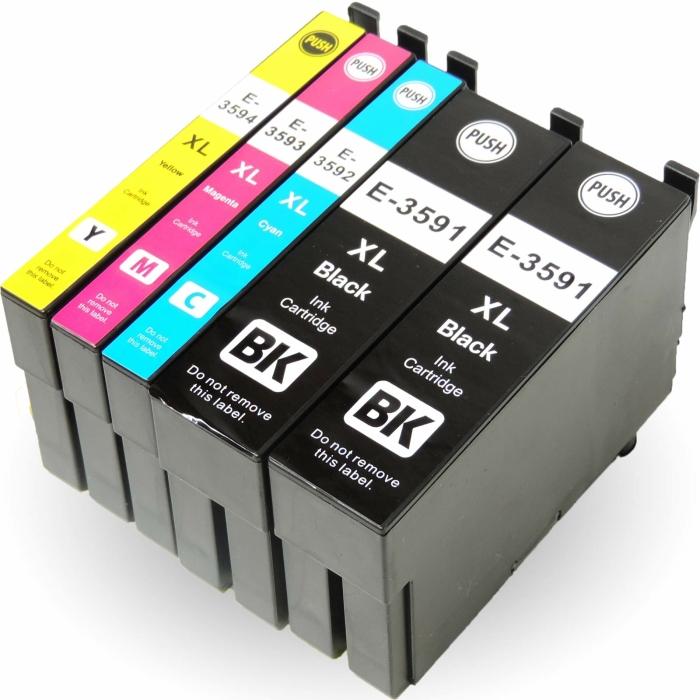 Tinte Kompatibel 5er Set Epson T3596, 35XL  für...