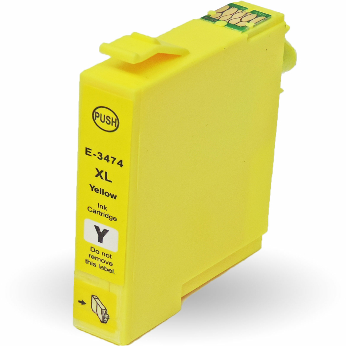 Kompatibel 5er Set Epson Golfball, T3476, 34XL, C13T34764010 Druckerpatronen Tinte 2x Schwarz und je 1x Cyan, Magenta und Gelb von D&C