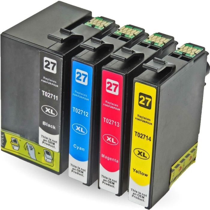 Kompatibel 4er Set Epson Wecker, T2715, 27XXL,...