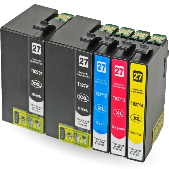 Kompatibel 5er Set Epson Wecker, T2715, 27XXL,...