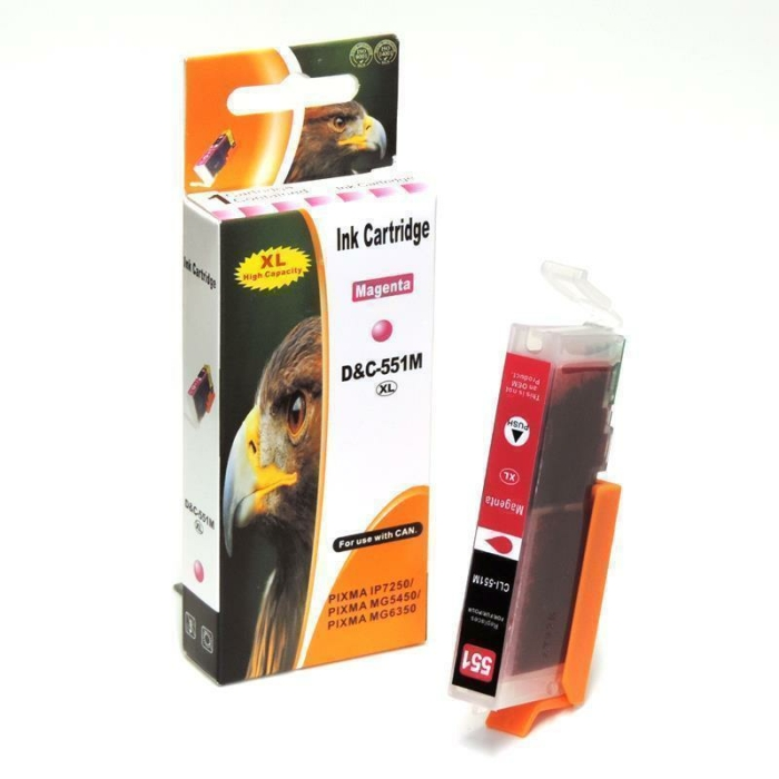 Kompatibel 5er Set Canon CLI-551 XL, PGI-555 XXL Druckerpatronen Tinte von D&C