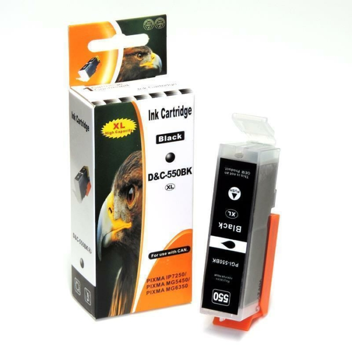 Kompatibel 6er Set Canon PGI-550 XL, CLI-551 XL Druckerpatronen Tinte inkl. Grau von D&C