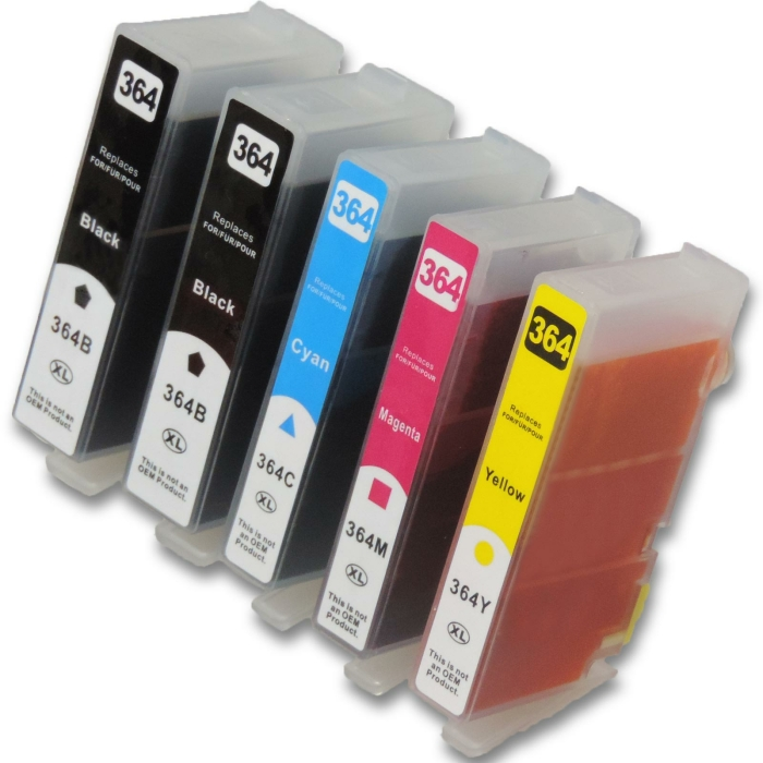 Kompatibel 5 Patronen HP HP364 XL zu N9J74AE N9J73AE...