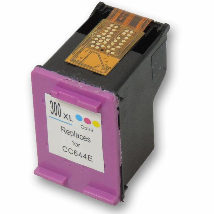 Wiederbefüllt HP 300XL, CC644EE C Color Cyan /...