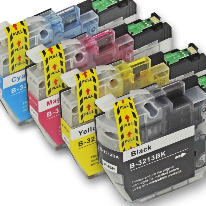 Kompatibel Brother LC-3213 XL Set 4 Druckerpatronen von...