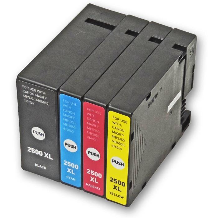 Kompatibel 4er Set Canon PGI-2500 XL Druckerpatronen...