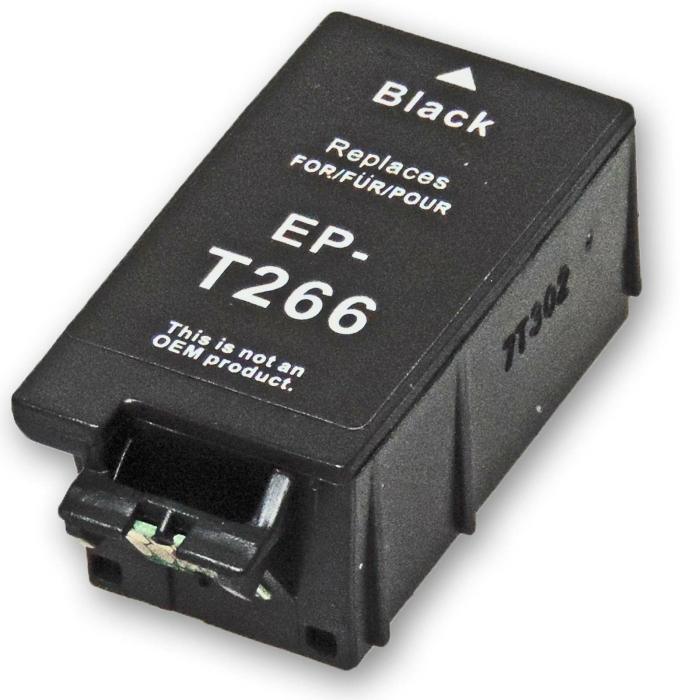 Kompatibel Epson 266, T2661, C13T26614010, Globus BK...