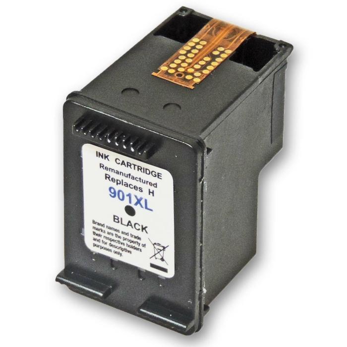 Wiederbefüllt HP 901XL, CC654AE BK Schwarz Black...