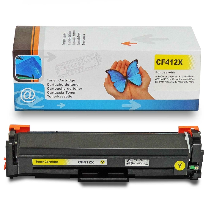 Kompatibel HP CF412X, 410X Y Yellow Gelb Toner Patrone...