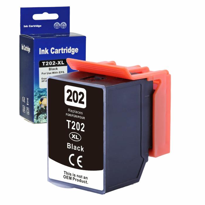 Kompatibel Epson Kiwi, T02G1, 202XL, C13T02G14010 BK Schwarz Black Druckerpatrone für 550 Seiten von D&C