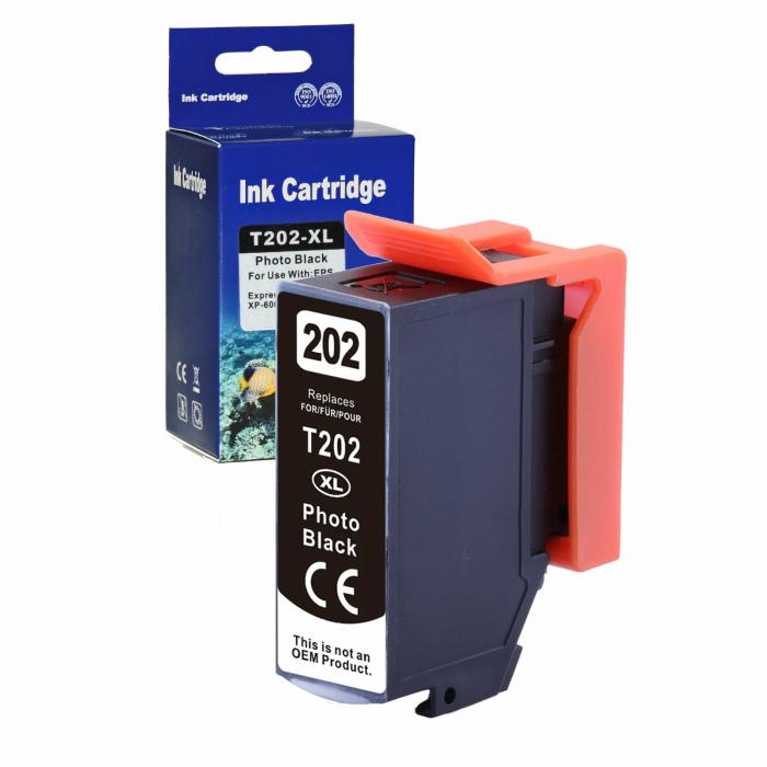 Kompatibel Epson Kiwi, T02H1, 202XL, C13T02H14010 PBK Foto-Schwarz Photo Black Druckerpatrone für 800 Seiten von D&C