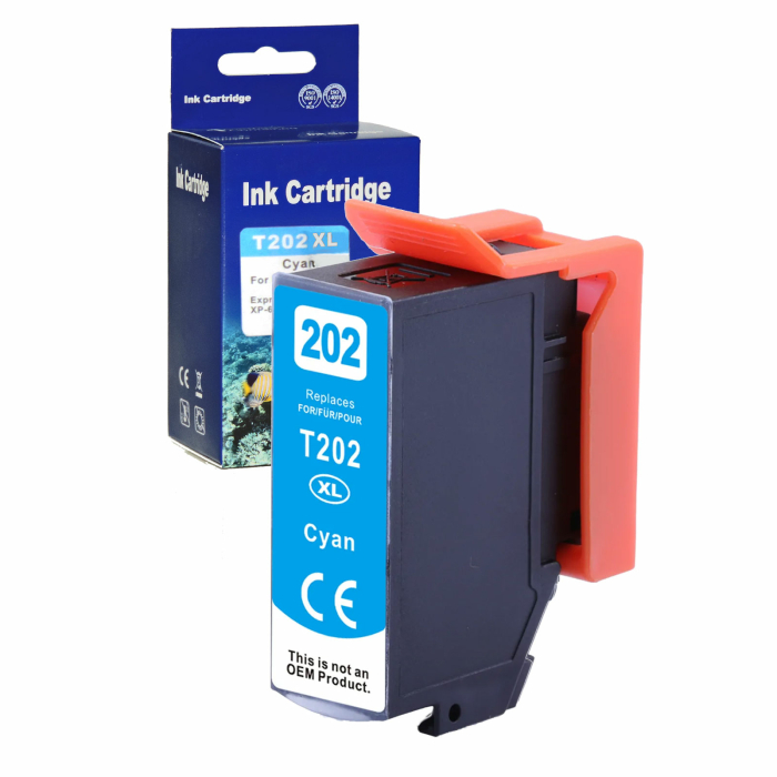 Kompatibel Epson Kiwi, T02H2, 202XL, C13T02H24010 C Cyan...