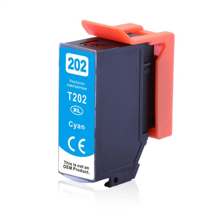 Kompatibel Epson Kiwi, T02H2, 202XL, C13T02H24010 C Cyan Blau Druckerpatrone für 650 Seiten von D&C