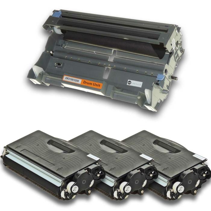 Kompatibel Brother DR-3200 + 3x TN-3280 Trommel und Toner...
