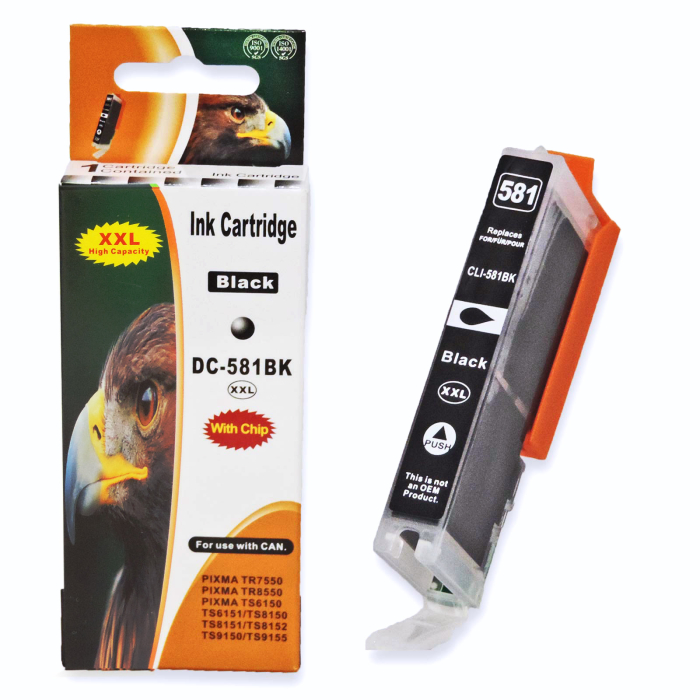 Kompatibel 5er Set Canon CLI-581 XXL, PGI-580 XXL, 2078C005 Druckerpatronen Tinte von D&C