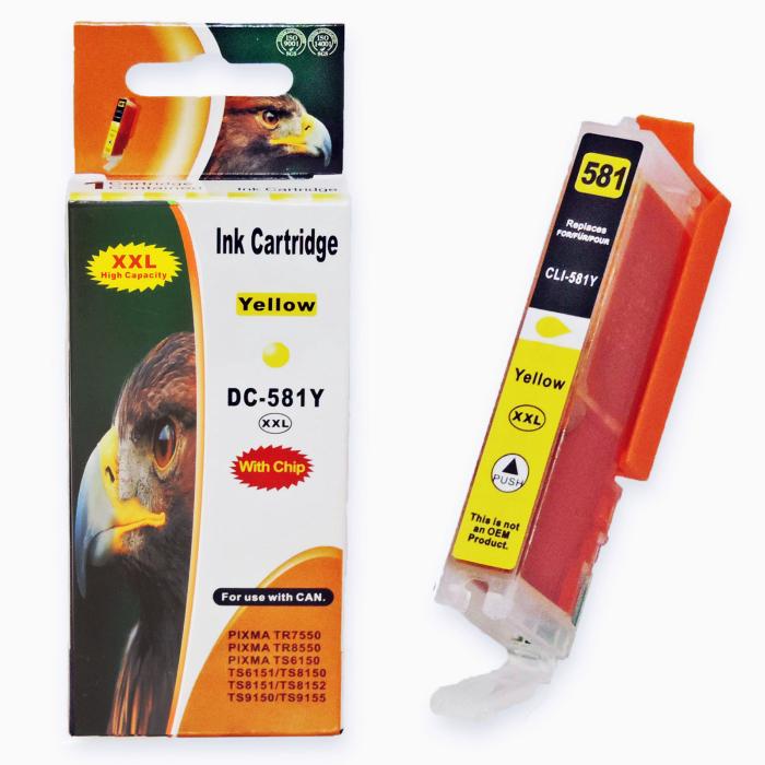Kompatibel 10er Set Canon CLI-581 XXL, PGI-580 XXL Druckerpatronen Tinte alle Farben von D&C