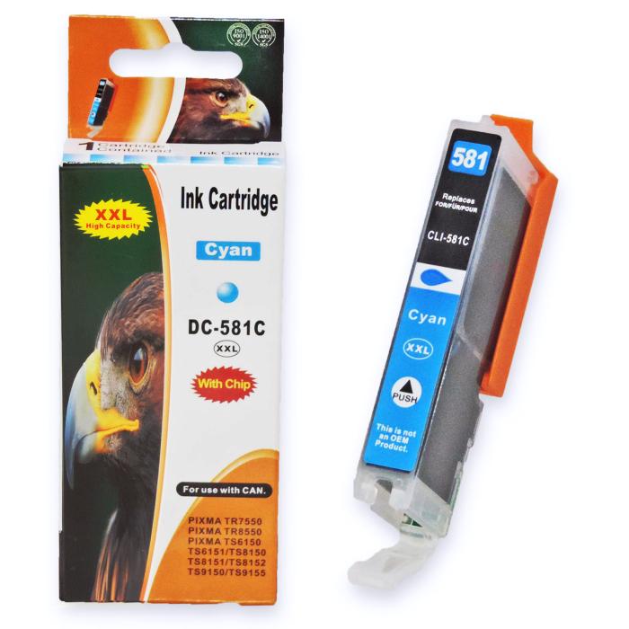 Kompatibel Canon CLI-581 XXL, 1995C001 C Cyan Blau...