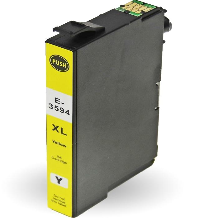 Kompatibel 3er Set Epson Vorhängeschloss, T3592, T3594, T3593, 35XL Druckerpatronen alle 3 Farben Tinte von D&C