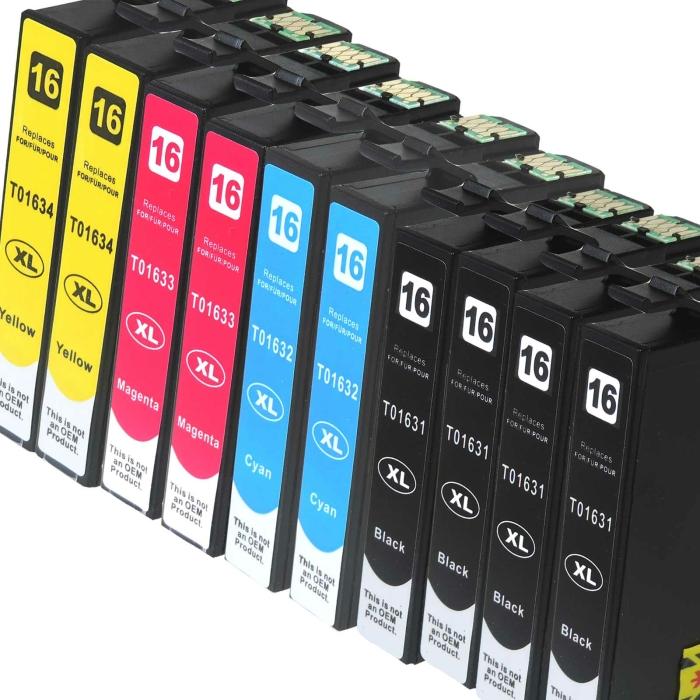 Kompatibel 10er Set Epson 16XL, Füller, T1636,...