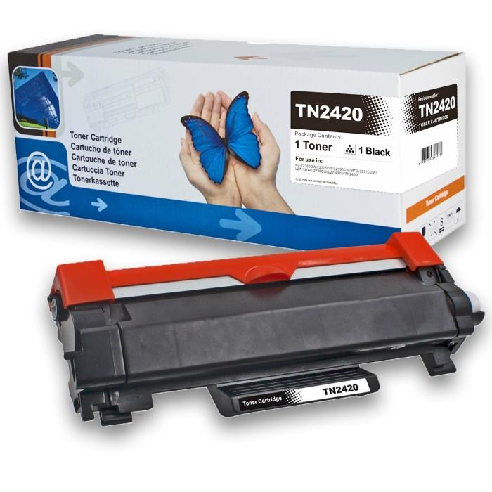 Kompatibel Brother TN-2420 BK Schwarz Black Toner Patrone für 3.000 Seiten von D&C