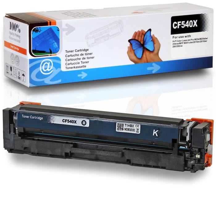 Kompatibel HP 203X, CF540X BK Schwarz Black Toner Patrone 3.200 Seiten für HP Color LaserJet Pro M254 Series, MFP M280 Series, MFP M281 Series
