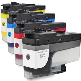 Kompatibel Brother LC-3233 XL Set 4 Druckerpatronen von...