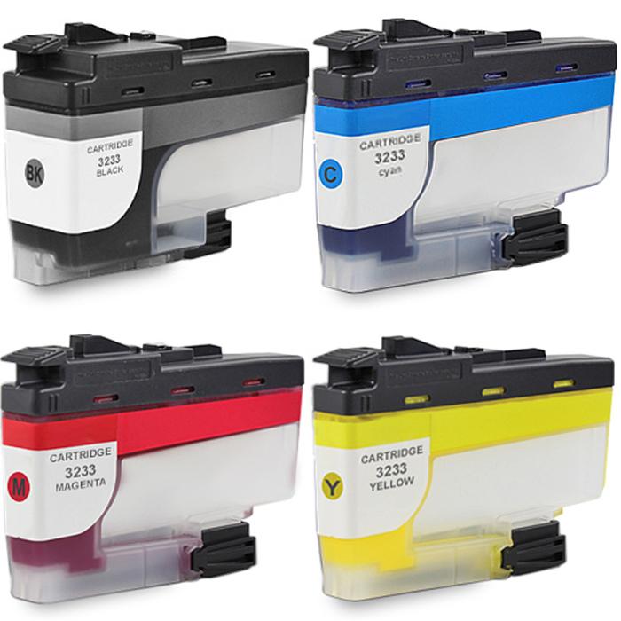 Kompatibel Brother LC-3233 XL Set 4 Druckerpatronen von Gigao