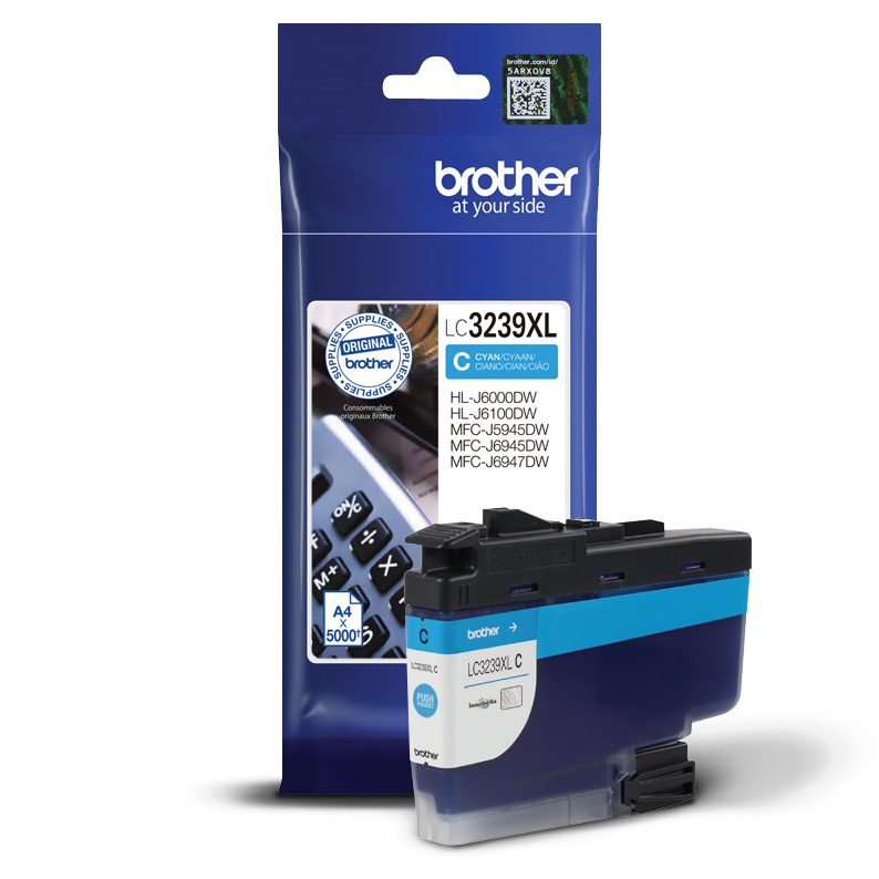 Original Brother Druckerpatrone LC-3239-XL-C Cyan