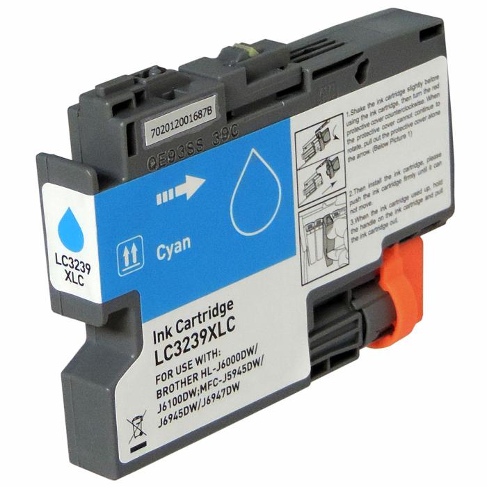 Kompatibel Brother LC-3239 XL C Cyan Blau Druckerpatrone für 5.000 Seiten von Gigao