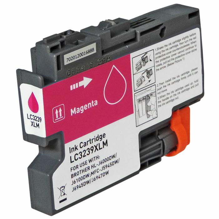 Kompatibel Brother LC-3239 XL M Magenta Rot Druckerpatrone für 5.000 Seiten von Gigao