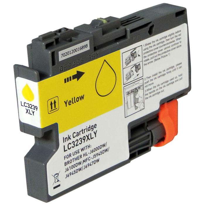 Kompatibel Brother LC-3239 XL Y Yellow Gelb Druckerpatrone für 5.000 Seiten von Gigao