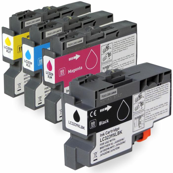 Kompatibel Brother LC-3239 XL Set 4 Druckerpatronen von...
